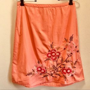 Classic Elements Coral Floral Embroidered Skirt SP